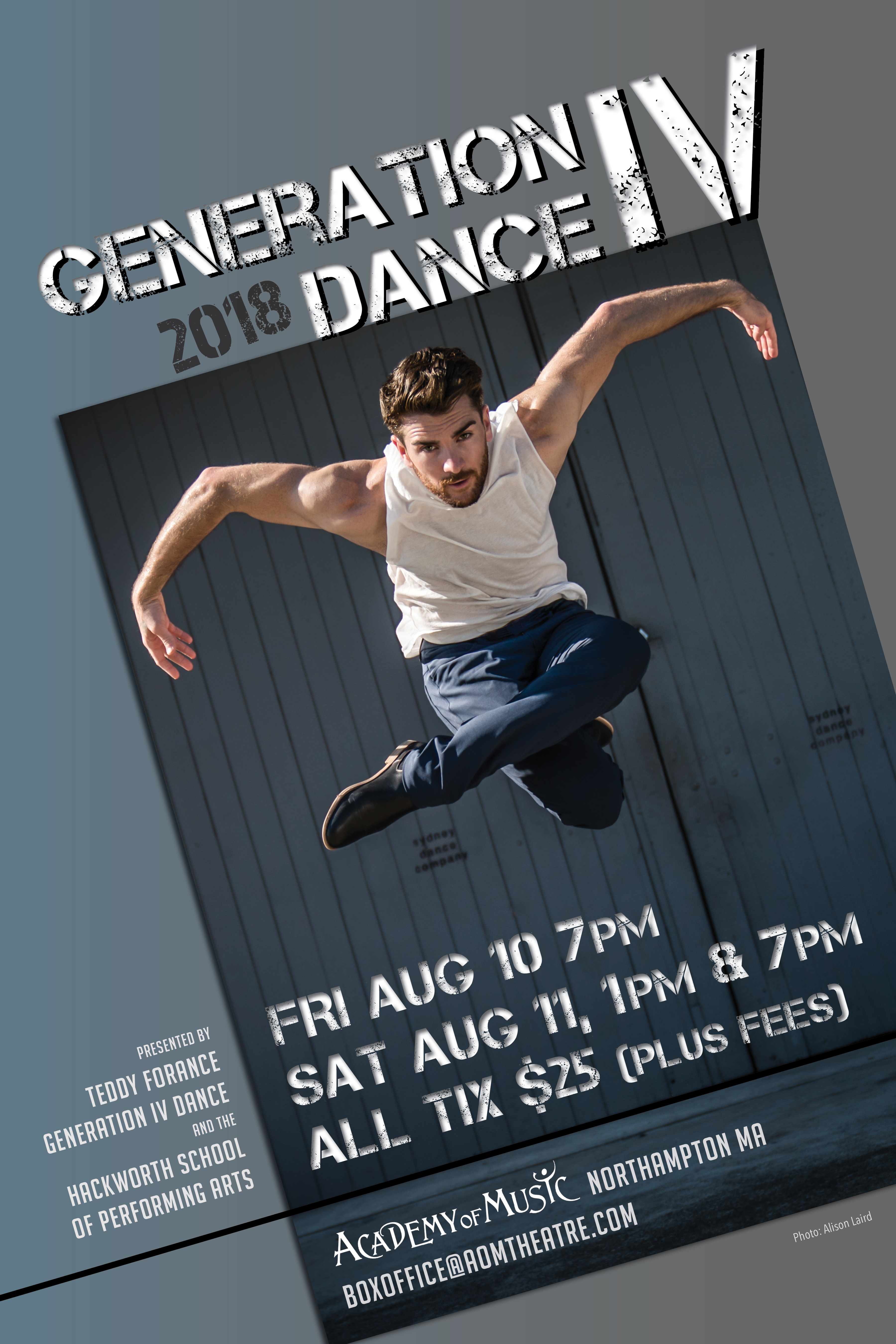 Hometown Celebrity And Emmy Award Winner Teddy Forance Along With The Entire Hackworth Family Presents Generation IV Dance A Week Long