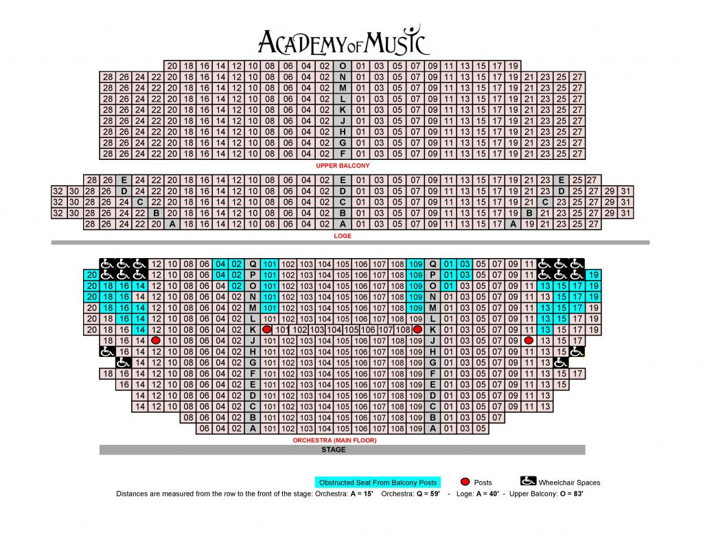Make A Floor Plan Online Seating Chart Academy Of Music